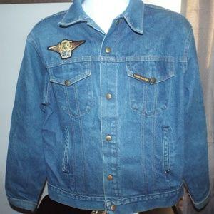 RARE Vintage Women's 1997 STURGIS Blue Jean Jacket